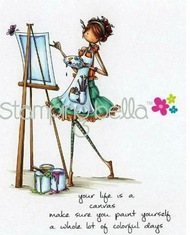 Stamping Bella's Uptown Girls ABIGAIL THE ARTIST