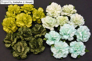 Wild Orchid Crafts Carnation -  Mixed Green Tone (20 pc)