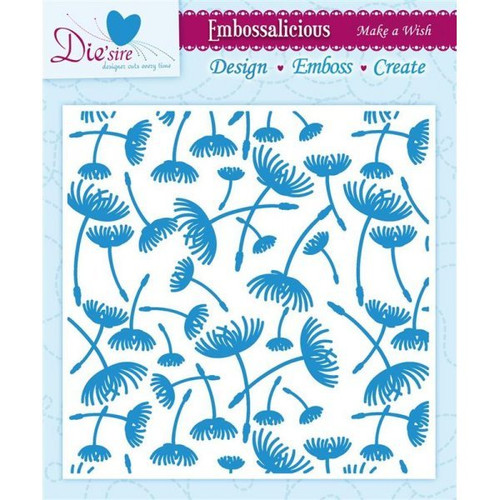 crafters companion embossing folder make a wish