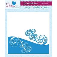 Crafters Companion Embossing Folder Deco Swirl