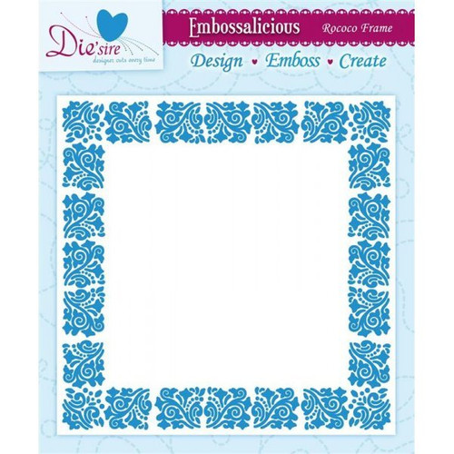 Crafter's Companion Embossing Folder Rococo Frame