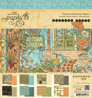 Graphic 45 Artisan Style 8 x 8 Paper Pad