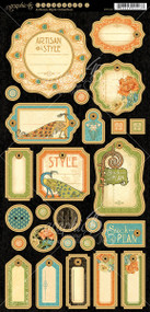 Graphic 45 Artisan Style Journaling Chipboard