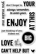 Memory Box Clear Stamp Smile