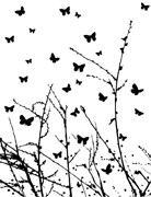 Memory Box Open Studio Cling Stamp Butterfly Breeze