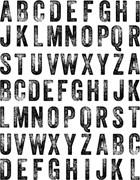 Memory Box Open Studio Cling Stamp Pensive Alphabet