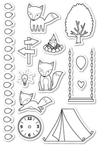 poppystamp clear stamp a fox tale