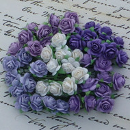Wild Orchid Craft Mixed Purple 10 mm Open Rose