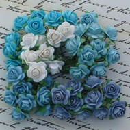 Wild Orchid Crafts 10 mm Mixed Blue Tone