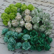 Wild Orchid Crafts 10 mm Mixed Green Tone