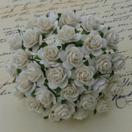 Wild Orchid Crafts 25 mm Ivory Open Rose
