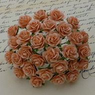 Wild Orchid Crafts 15 mm Peach Open Rose
