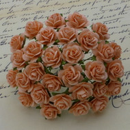 Wild Orchid Crafts 10 mm Peach Open Rose