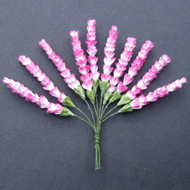 Wild Orchid Crafts Heather Stems 2-Tone Rosy Pink