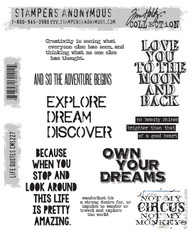 Tim Holtz Stampers Anonymous Cling Stamp Life Quotes