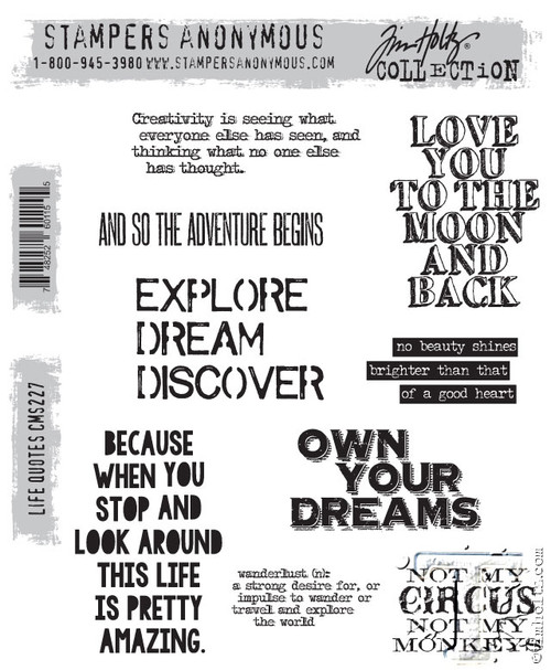 Anonymous Quotes About Life: Tim Holtz Cling Stamp Life Quotes CMS227