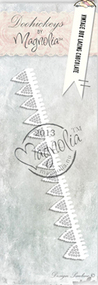 Magnolia Stamps DooHickey Vintage Box Lacing Chocolate