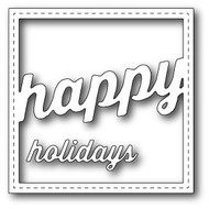 Memory Box Die Stitched Happy Holiday Square Frame (MB-99265)