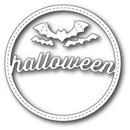 Memory Box Die Stitched Halloween Circle Frame (MB-99280)