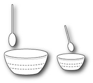 Poppystamps Craft Die - Baking Spoons and Bowls (PS-1321)