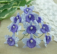 Wild Orchid Crafts Orchids Small Pale Lilac and Lilac/Blue
