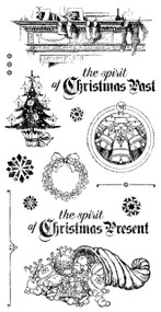 Graphic 45 A Christmas Carol Cling Stamp 2