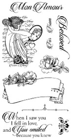 Graphic 45 Mon Amour Cling Stamp 1