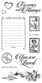 Graphic 45 Mon Amour Cling Stamp 2