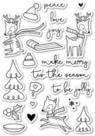 Poppystamps - Holiday Hoopla - Clear Stamp Set
