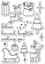 Poppystamps - Christmas Delights - Clear Stamp Set