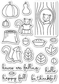 Poppystamps - Falling For You - Clear Stamp Set
