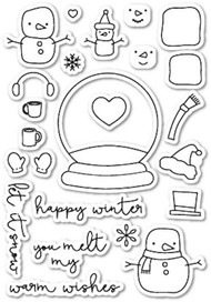 Poppystamps - You Melt My Heart - Clear Stamp Set