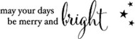 Memory Box - Cling Stamp - Merry and Bright
