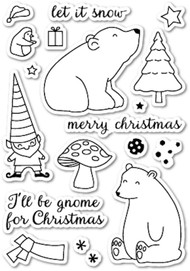 Memory Box - Clear Stamp Set - Gnome For Christmas
