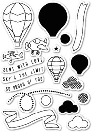 Memory Box - Clear Stamp Set - Flying High