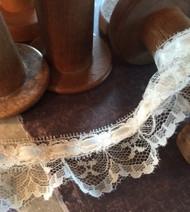 "Venise Lace - 1.5 "" BD Ruffle Lace Ivory (LBRUPY/000626/S-C02)"