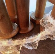 """Venise Lace - 1.5 """" BD Ruffle Lace White"""