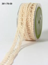 """May Arts - Crochet 7/8"""" - Ivory"""