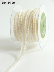 "May Arts - Lace/Pearl Center 3/4"" - Ivory"