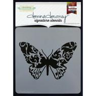 Donna Downey Stencil 8.5 x 8.5 - Butterfly (DD-082)