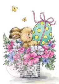 Wild Rose Studio Clear Stamp - Easter Bunny (CL486)