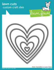 Lawn Fawn - Heart Stackables Lawn Cuts (LF-1024)