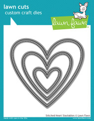 Lawn Fawn - Stitched Heart Stackables Lawn Cuts (LF-1025)
