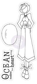 Prima Marketing - JN 3.5x8 Cling Stamp - Gina (PM-911379)