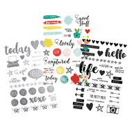 Simple Stories - Life in Color - Clear Stickers (SS-5033)