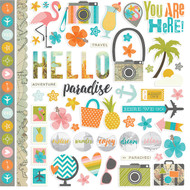 Simple Stories - You Are Here! - Fundamentals Cardstock Stickers (SS-6202)