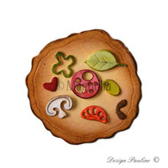 Magnolia Stamps DooHickey - Little Italy Pizza with Topping 1