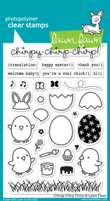 Lawn Fawn - Chirpy Chirp Chirp Stamp Set (LF-1046)