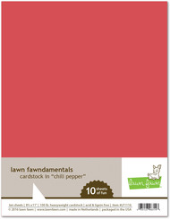 Lawn Fawn Fawndamentals 8.5 x 11' Cardstock - Chili Pepper