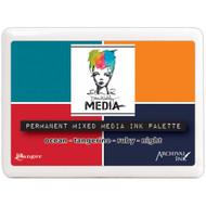 Ranger - Dina Wakley Permanent Mixed Media Ink Palette